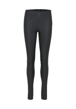Selected Femme - SFSYLVIA STRETCH - Pantalon en cuir - iron gate