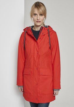 TOM TAILOR - PADDED RAINCOAT - Parka - strong red