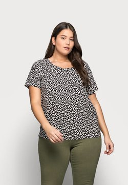 ONLY Carmakoma - CARFIRSTLY LIFE - T-Shirt print - black