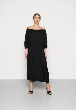 Selected Femme - MINORA-VIENNA MIDI DRESS  - Freizeitkleid - black