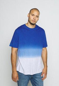 TOM TAILOR MEN PLUS - DIP DYED - Print T-shirt - shiny royal