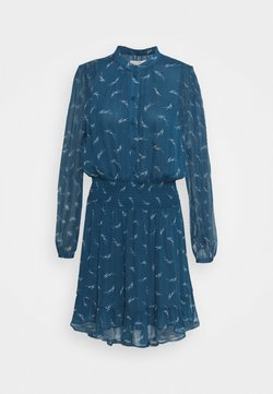 MICHAEL Michael Kors - SIG LOGO PRINT DRESS - Vestido camisero - river blue