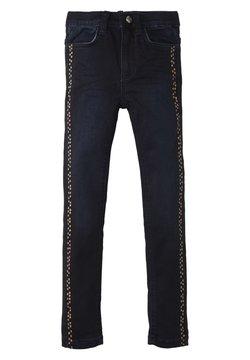 TOM TAILOR - MIT GEPUNKTETER LEISTE - Straight leg jeans - blue denim|blue