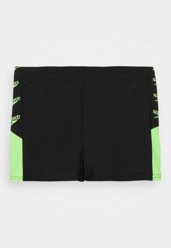 Speedo - BOOM LOGO SPLICE AQUASHORT - Costume da bagno - black/zest green