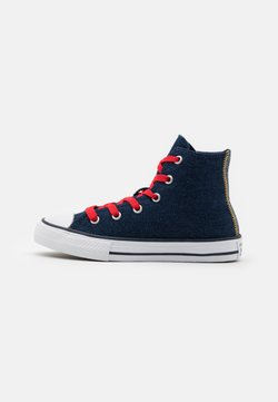 Converse - CHUCK TAYLOR ALL STAR UNISEX - Sneakersy wysokie - obsidian/sunflower gold/university red