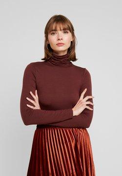 Vero Moda - VMAVA LULU ROLLNECK BLOUSE - Langærmede T-shirts - madder brown