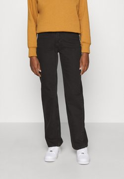 Weekday - TWIN TROUSERS - Jeans straight leg - almost black