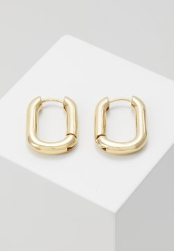 Orelia - CHUNKY OVAL HOOP - Earrings - pale gold-coloured