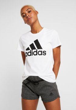 adidas Performance - BOS TEE - Printtipaita - white
