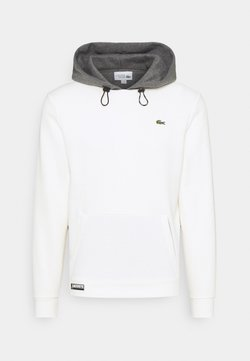Lacoste Sport - COLOURED HOOD - Sweatshirt - flour/pitch chine