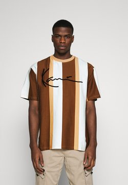 Karl Kani - SIGNATURE STRIPE TEE - T-shirt con stampa - beige