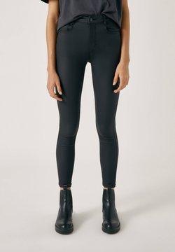 PULL&BEAR - Jeansy Skinny Fit - black