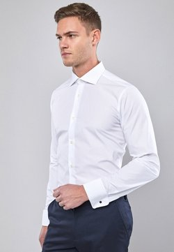 Next - WHITE SLIM FIT DOUBLE CUFF CURVED CUTAWAY COLLAR SHIRT - Businesshemd - white