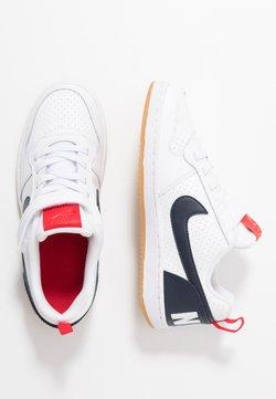 Nike Sportswear - COURT BOROUGH - Matalavartiset tennarit - white/obsidian/university red/light brown