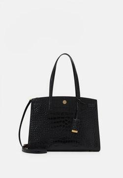 Tory Burch - WALKER EMBOSSED SATCHEL - Handtasche - black