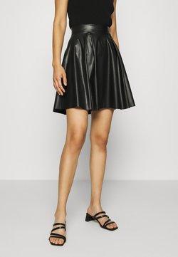 Anna Field - Fake Leather mini A-line skirt - Mini skirt - black