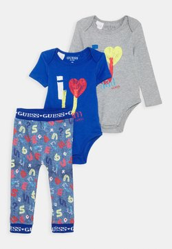 Guess - BABY SET - Body - blue/grey block