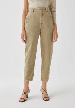 PULL&BEAR - Straight leg jeans - khaki
