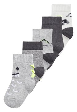 Next - MONOCHROME 5 PACK DINOSAUR SOCKS (YOUNGER) - Calcetines - grey