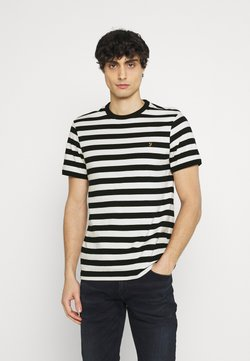 Farah - BELGROVE STRIPE - T-Shirt print - ecru