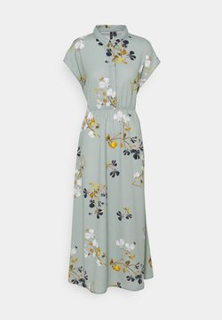 Vero Moda Tall - VMHALLIE LONG TIE DRESS - Maxikleid - green milieu