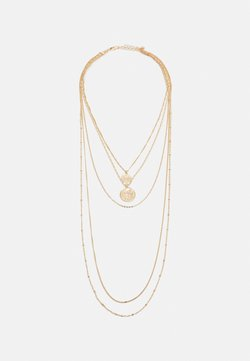 Pieces - PCORA COMBI NECKLACE - Necklace - gold-coloured