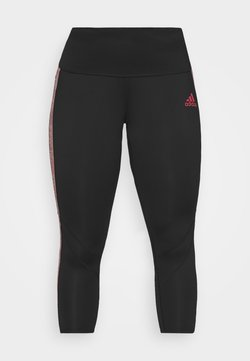 adidas Performance - Legginsy - black/scarlet