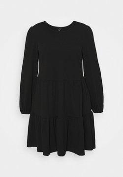 New Look Curves - BRUSHED LOOPBACK PEPLUM DRESS - Jerseykleid - black