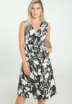 Cassis - Korte jurk - black / ecru