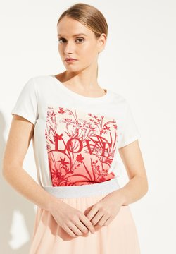 comma - MIT SCHMUCKSTEIN-APPLIKATION - T-Shirt print - white