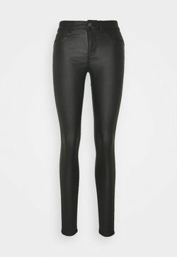 Pieces - PCSHAPE UP PARO COATED - Jeans Skinny Fit - black