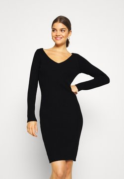 Vila - VITUPA - Gebreide jurk - black