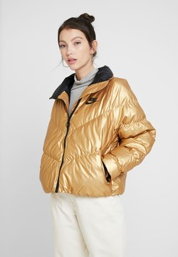 Nike Sportswear - FILL SHINE - Winterjacke - metallic gold/black