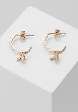 Ted Baker - BEDZA BUMBLE BEE HOOP EARRING - Earrings - rose gold-coloured