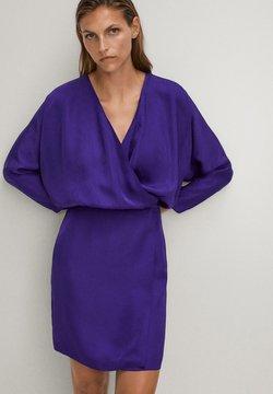 Massimo Dutti - Sukienka letnia - dark purple