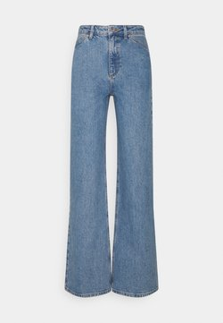 NA-KD - WIDE LEG - Relaxed fit jeans - mid blue