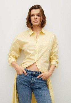 Mango - Vestido camisero - amarillo pastel