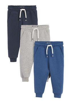 Next - 3 PACK  - Spodnie treningowe - blue