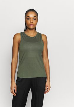 Casall - DRAPY MUSCLE TANK - Top - northern green