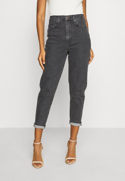 Levi's® - HIGH WAISTED TAPER - Relaxed fit -farkut - black denim