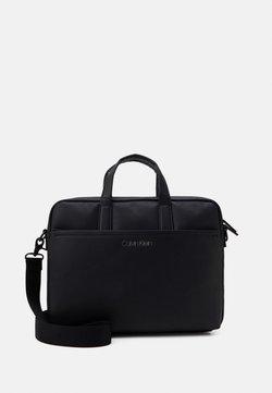 Calvin Klein - DIRECT SLIM LAPTOP UNISEX - Aktówka - black