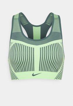 Nike Performance - FE/NOM FLYKNIT BRA - Sport-bh met medium support - lime glow/hasta