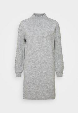 ONLY - ONLPIL HIGHNECK DRESS  - Strickkleid - light grey melange