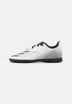 adidas Performance - X GHOSTED FOOTBALL BOOTS TURF UNISEX - Fußballschuh Multinocken - footwear white/core black/silver metallic