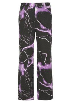 Jaded London - PURPLE LIGHTNING SKATE JEAN - Jeans Relaxed Fit - black/purple