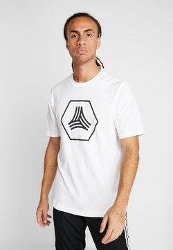 adidas Performance - TAN LOGO TEE - Print T-shirt - white