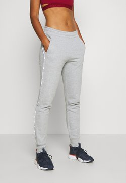 Tommy Sport - CUFFED PANT PIPING - Pantalones deportivos - grey heather