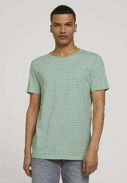 TOM TAILOR DENIM - T-Shirt print - mint tonal stripe