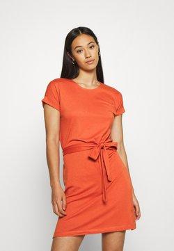Even&Odd - BASIC - Short sleeves mini belted dress - Jerseyjurk - bruschetta
