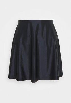 Even&Odd - SATIN HIGH WAISTED MINI A-LINE SKIRT - Jupe trapèze - black